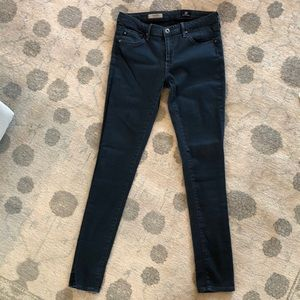 AG steel blue soft skinny jeans